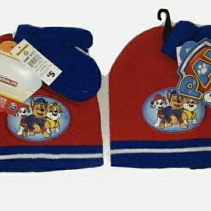 Paw Patrol hat and mitten set. Lot of two. NWT.